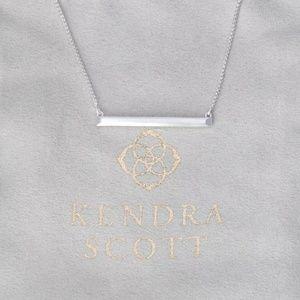 "Kendra Scott ""Kelsey"" Silver Bar Pendant Necklace"